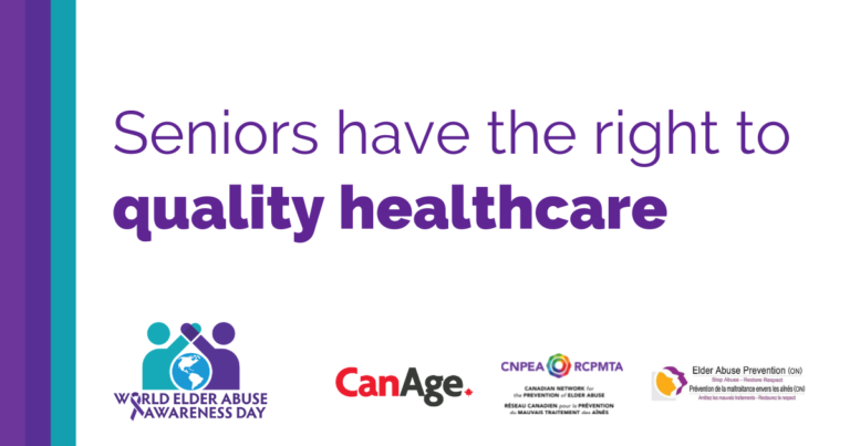 Seniors have the right to quality healthcare