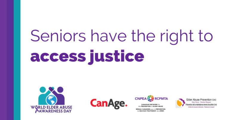 Seniors have the right to access justice